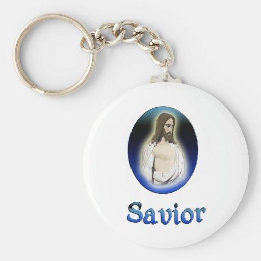 Jesús es salvador llavero redondo tipo pin