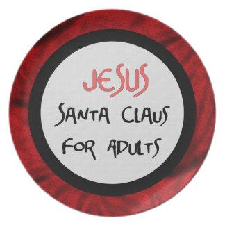 Jesús es Santa para los adultos Platos Para Fiestas