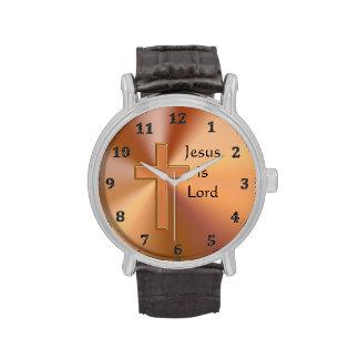 Jesús es señor Cross Watches para los hombres pers Relojes De Mano