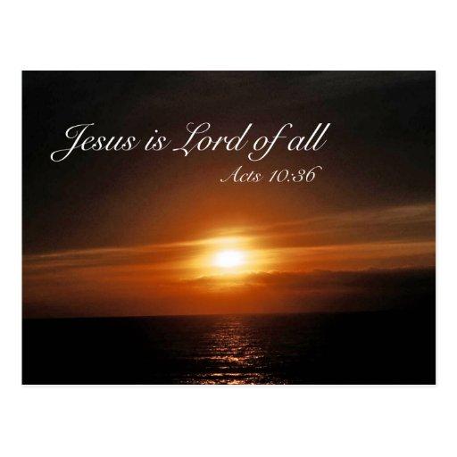 Jesús es señor de todos postales