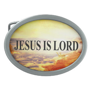 Jesús es señor hebilla de cinturon oval