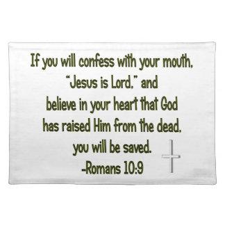 Jesús es señor Placemat Manteles Individuales