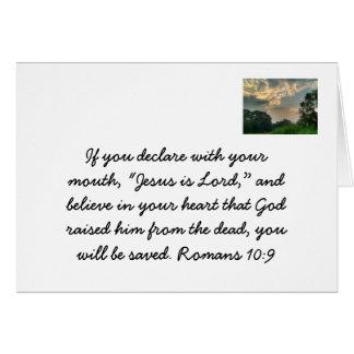 Jesús es señor tarjeta pequeña