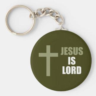 Jesús es señor y salvador y la luz llavero redondo tipo pin