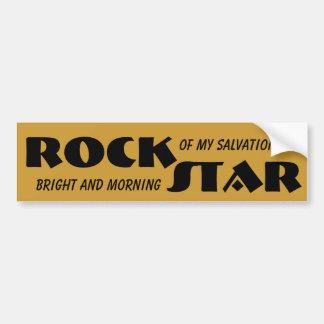 Jesús es una estrella del rock pegatina para auto
