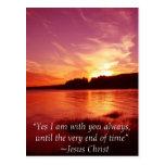 Jesús está con usted tarjeta postal