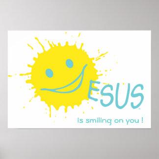 ¡Jesús está sonriendo en usted! Poster