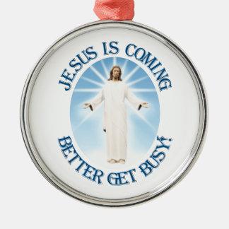 Jesús está viniendo adorno de navidad