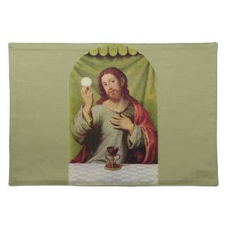 Jesus eucharist placemat