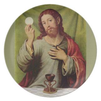 Jesus eucharist plate