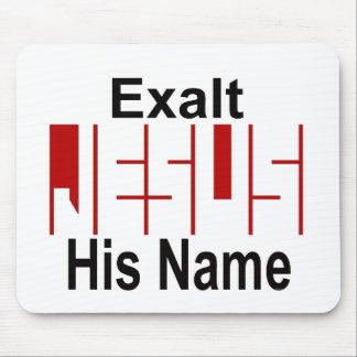 Jesus: Exalt His Name Mouse Pad