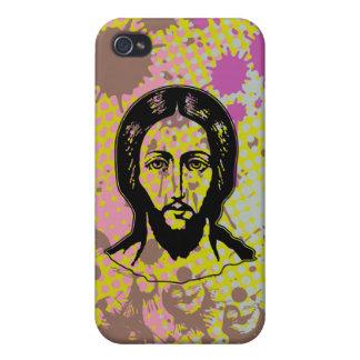Jesus face black focused splash bg iPhone 4/4S case
