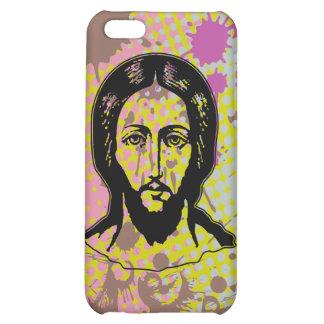 Jesus face black focused splash bg iPhone 5C case