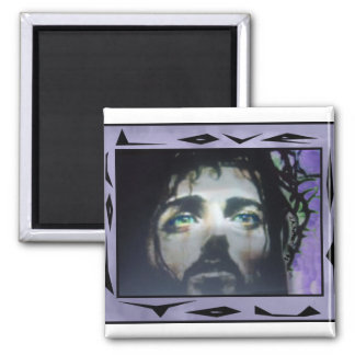 Jesus Face framed color Magnet
