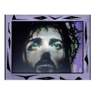 Jesus Face framed color Postcard