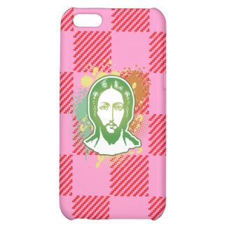 Jesus face green line focused iPhone 5C covers