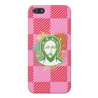 Jesus face green line focused covers for iPhone 5