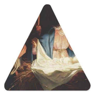 Beach Themed Jesus Faith Christ Christian Inspirational Destiny Triangle Sticker