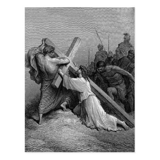Jesus Falling BeneathThe Cross Post Card