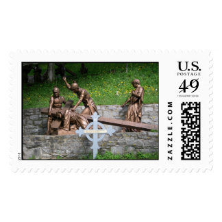 Jesus falls the first time - 3rd station postage