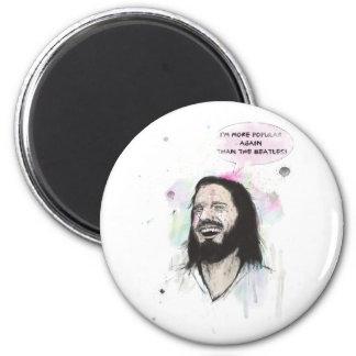 Jesús feliz imán redondo 5 cm