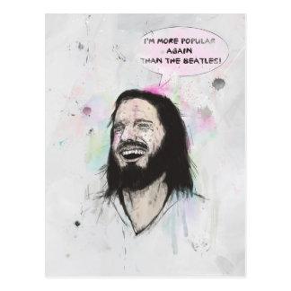 Jesús feliz tarjeta postal