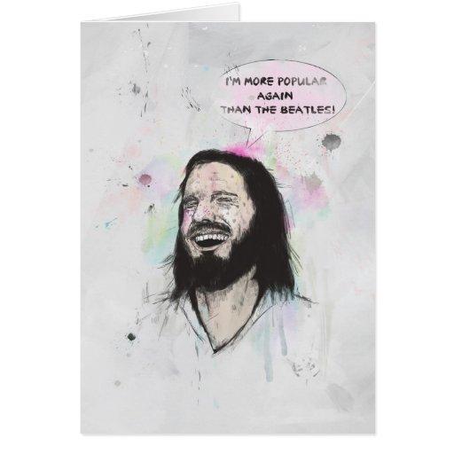 Jesús feliz tarjeton
