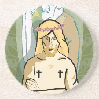 Jesus FiGhT Drink Coaster