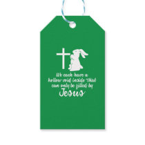 Jesus Fills Hollow Void Bunny Easter Gift Tags