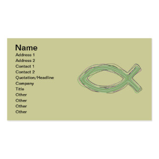 JESUS FISH BUSINESS CARDS