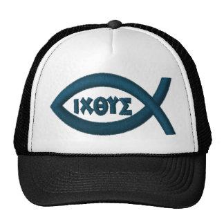 Jesus Fish Christian Symbol Trucker Hat