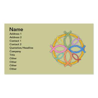 JESUS FISH CIRCLE DESIGN BUSINESS CARD