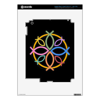 JESUS FISH CIRCLE DESIGN DECAL FOR iPad 3