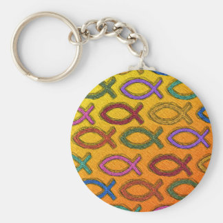 JESUS FISH DESIGN KEYCHAIN