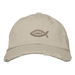 Jesus Fish Embroidered Baseball Cap