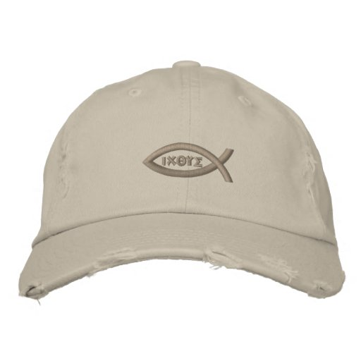 Jesus Fish Embroidered Baseball Cap  668f59fbe46