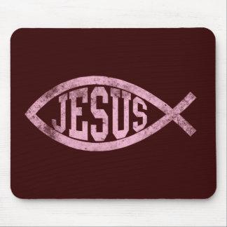 Jesus Fish Ichthys Christian Catholic Mousepas Mouse Pad