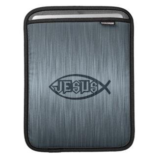 Jesus Fish Ichthys Fish Metallic Look iPad Sleeve