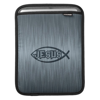 Jesus Fish Ichthys Fish Metallic Look Sleeve For iPads