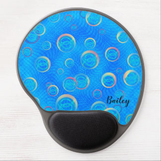 Jesus fish in bubbles gel mouse pad