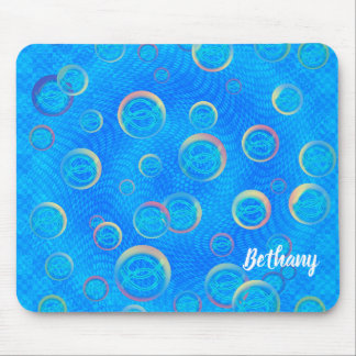 Jesus fish in bubbles mouse pad