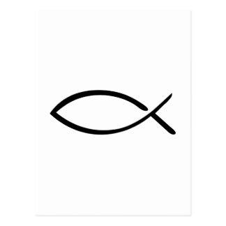 Jesus Fish logo Postcard
