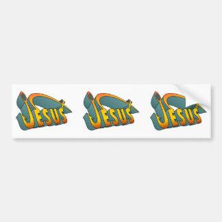 Jesus Fish Nail Bumper Sticker