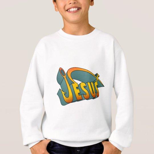 Jesus Fish Nail Sweatshirt