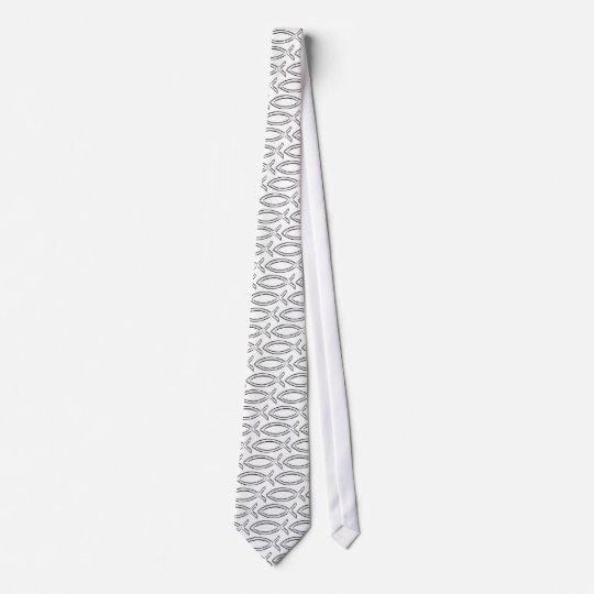 Jesus Fish Neck Tie