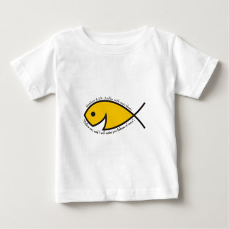 Jesus fish smiley Matthew 4 19 Baby T-Shirt