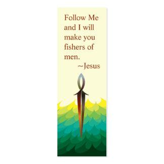 Jesus Fish Sword & Sea - Scripture Card -