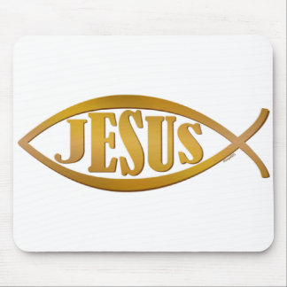 Jesus fish symbol christian gift mouse pad