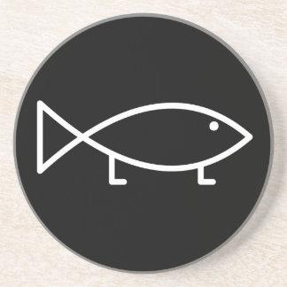 Jesus Fish with Legs - Coaster