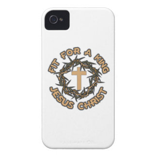Jesus Fit for a King iPhone 4 Case-Mate Cases